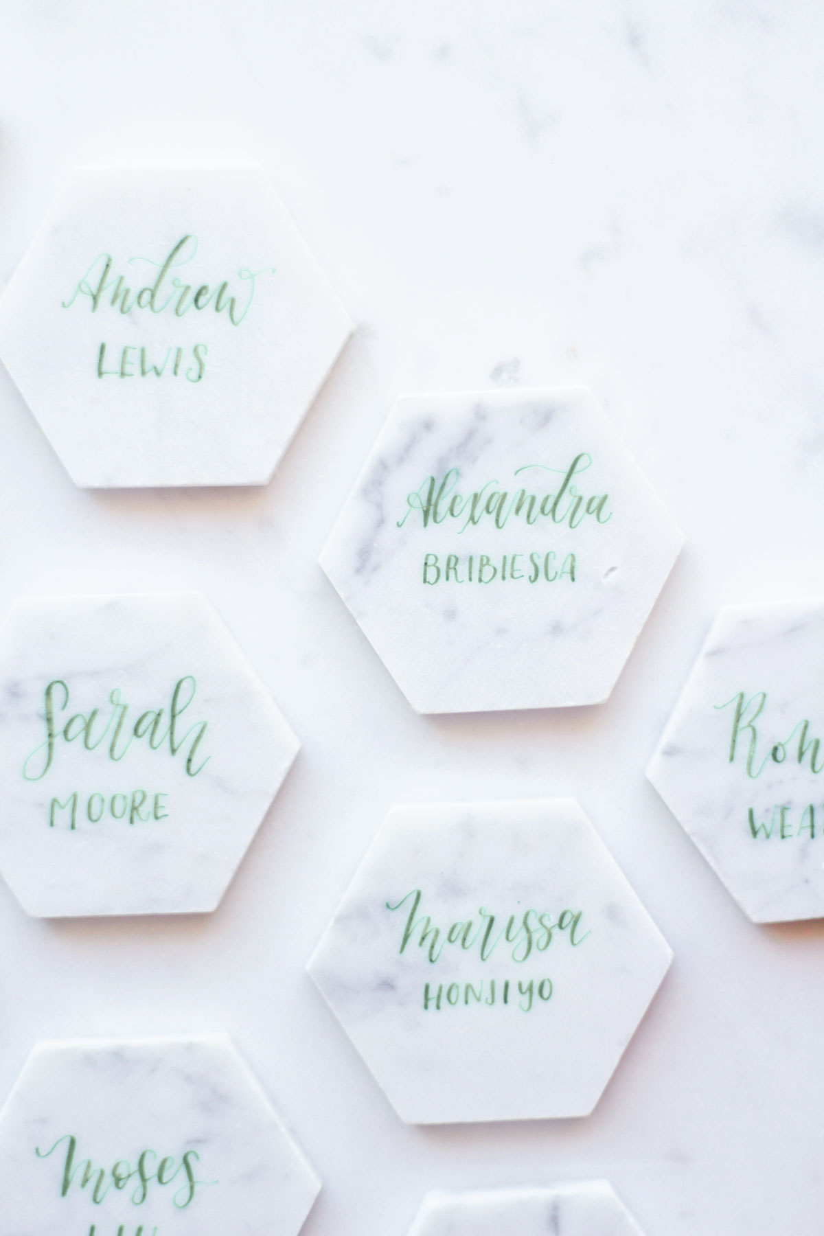 how to make marble placecards
